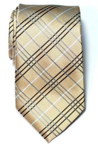 Retreez - Corbata para hombre de microfibra, cuadros escoceses, 10 colores dorado dorado Talla única