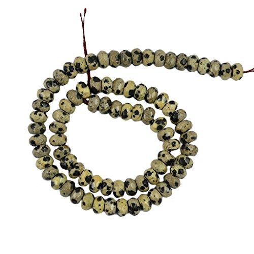 Generic 5x8mm Natura Dalmata Diaspro Pietra Naturale Rotonda Distanziatore Perline Sparse 15