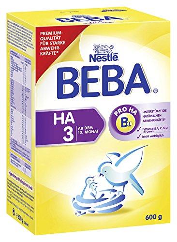 BEBA HA 3 Hypoallergene Folgenahrung - ab dem 10. Monat, 6er Pack (6 x 600 g)