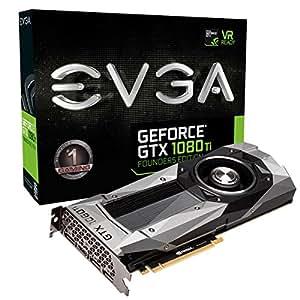 EVGA GeForce GTX 1080 Ti Founders Edition GeForce GTX 1080 TI 11GB GDDR5X - graphics cards (GeForce GTX 1080 TI, 11 GB, GDDR5X, 352 bit, 7680 x 4320 pixels, PCI Express x16 3.0)