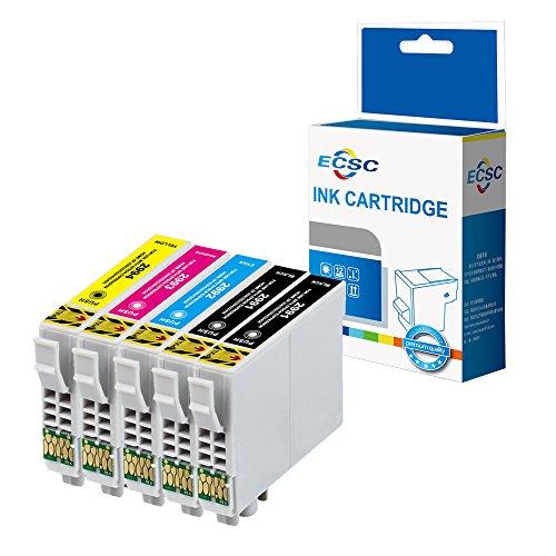 Foto de ECSC Compatible Tinta Cartucho Reemplazo Para Epson XP-235 XP-335 XP-432 XP-442 XP-342 XP-245 XP-435 XP-332 XP-247 XP-445 XP-345 T2996 (Negro/Cian/Magenta/Amarillo, 5-Pack)