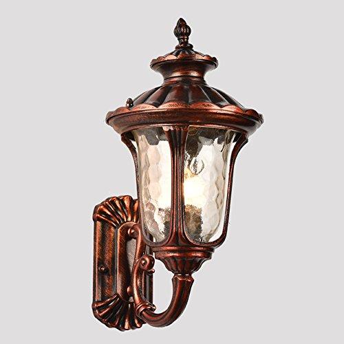 Europäischer Antiquitäten Hof Villa Rustikale Outdoor Wasserdichte Wand Lampe; Aisle Treppe Park Outdoor Wand Lampe E27,A (Rustikale Schmiedeeiserne Lampen)