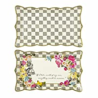 Talking Tables Truly Alice Food Serving Platter - Pack of 4, Fabric, Multicolour, 31x19x2 cm