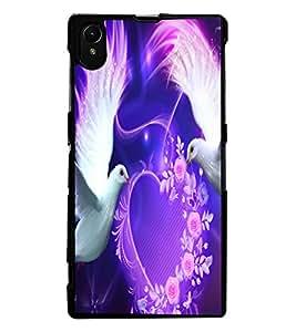 ColourCraft Love Birds Design Back Case Cover for SONY XPERIA Z1