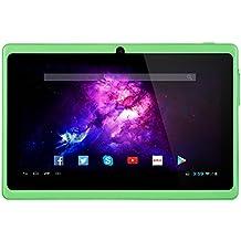 Alldaymall A88X Tablet de 7 Pulgadas - Android 4.4, Quad Core,8 GB ROM, HD 1024x600, Wi-Fi, Bluetooth, OTG,Soporte para juegos 3D –Verde