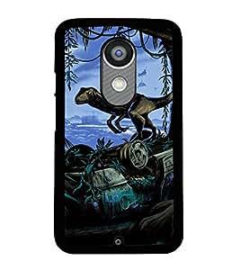 Printvisa Animated Dinosaur Causing Distruction Back Case Cover for Motorola Moto X2::Motorola Moto X (2nd Gen)
