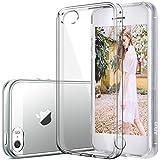 Funda para Apple iPhone 5 / 5S / SE 4-Pulgada Smartphone, MaiJin TPU Transparente Carcasa Case Bumper con Absorción de Impactos y Espalda Cover