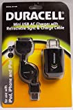 Duracell Mini USB AC Charger with Retrac...