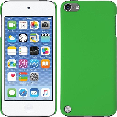 PhoneNatic Case für Apple iPod touch 5 / 6 Hülle grün gummiert Hard-case für iPod touch 5 / 6 + 2 Schutzfolien