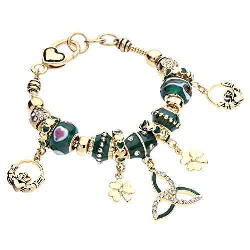 rosemarie-kollektionen-damen-gold-green-claddagh-armband