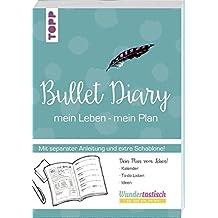 Bullet Diary: Lieben - Leben - Listen.16-seitiges Booklet (mit Anleitung) und Schablone in hinterer Klappe, Buchschleife