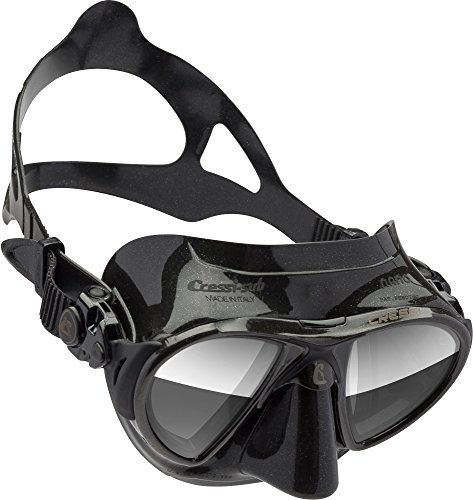 Cressi Tauchmaske Nano HD Mirrored Lens, Black, DS366050