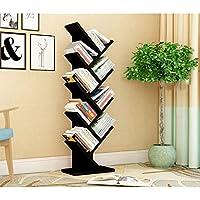 Comparador de precios Estantes creativos bastidores estantes de árboles sala de estar dormitorio periódicos stand de exposición piso biblioteca para niños ( Color : Black ) - precios baratos