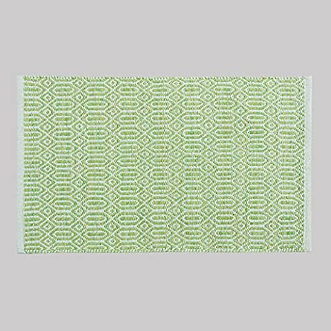 Dormitorio MOREY algodón hecho a mano Colchón puerta Mat puerta de la sala Cama borde del colchón otomanos geométricas simples (verde) ( Tamaño : 60*90CM