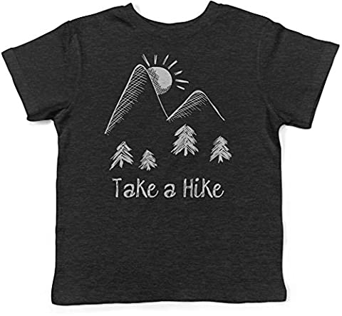 Crazy Dog TShirts - Infant Take A Hike T Shirt Cute Outdoors Camping Tee For Babies (black) 6-12 months - baby-Enfant