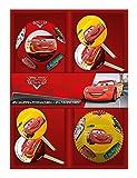 p:os 25689 Disney Pixar Cars 24 Muffinförmchen mit 24 Fähnchen im Geschenkkarton