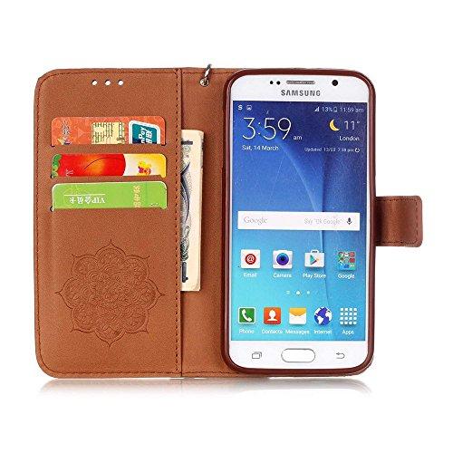 Linvei iPhone 6 Case 4.7 (Zoll)- Protective Case Wallet Cover Leder Tasche für iPhone 6 Case -Schutzhülle in Baby Pink Grau