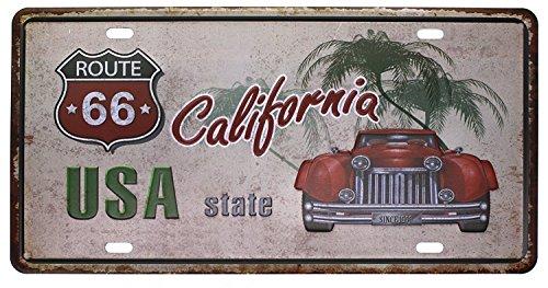 """Eureya Auto-Nummernschild, für Zuhause/Café/Bar/Pub/Restaurant/Ausstellung, als Wanddekoration, im Vintage-Stil, 15,2 x 30,5 cm, metall, Usa State California, 6\""""x12\"""""""