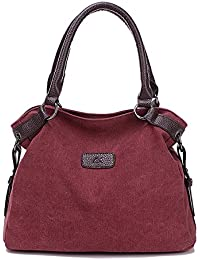 BYD - Mujeres Bag Bolsos bandolera Mutil Function Bag Crossbody Bag Tote Carteras de mano with PU cuero Handle