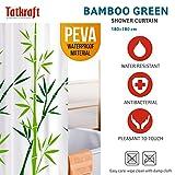 Tatkraft Bamboo Green Duschvorhang 180X180cm Peva Wasserdicht Schimmelfrei mit 12 Duschringen Vergleich