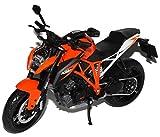 KTM 1290 Super Duke R Orange Schwarz Ab 2013 1/12 KTM Modell Motorrad mit individiuellem Wunschkennzeichen
