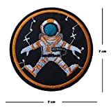 Astronauta bordado parche hierro en o coser en bordado Diseño de espacio hombre transferencia Nasa Espacio explorer Applique