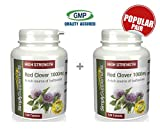 High Strength Red Clover 1000mg | A Rich Source of Isoflavones | Bundle Deal 120+120 Tablets (240 in total) | 100% money back guarantee | Manufactured in the UK from Simply Supplements