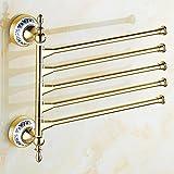 ZXS Kontinentale aktivitäten handtuch bar,golden handtuch rack rotation,badezimmer handtuch hanger bar-F