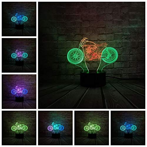 orangeww 3d Cross Country Moto Modellistica Scrivania Lampada da tavolo Decorazioni natalizie Tocco Usb Luce notturna-bambino Regali-in Luci notturne a led /Touch 7 colo