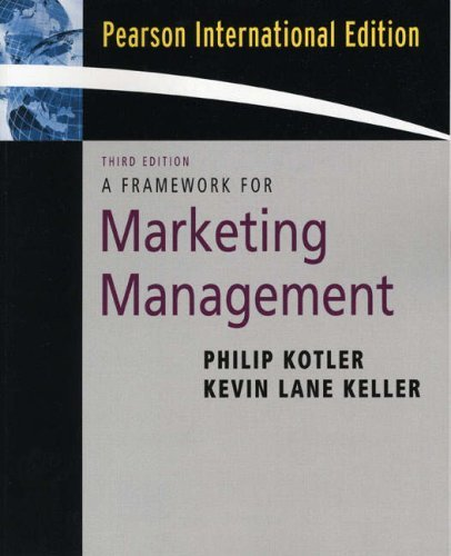 Framework for Marketing Management by Philip T. Kotler (2006-04-26)