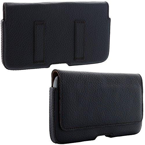 XiRRiX Echt Leder Quer Gürtel Handytasche 2.2 Tasche 4XL für Huawei Honor 5X 6X 7X Mate 9 10 Pro - LG X Power 2 - Motorola Moto Z Z2 Play