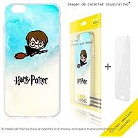 FunnyTech® Set Funda Silicona para Xiaomi Mi Mix 2 [Gel Silicona Flexible Alta Calidad] [Ultra Slim 1,5mm] [Diseño Exclusivo, Impresión Alta Definición] + [Cristal Templado 0,3mm, HD, 9H] [Harry Potter Diseños Ilustraciones 4]