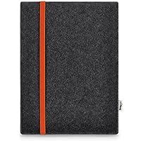Stilbag maßgeschneiderte Tablet-Hülle LEON | Farbe: anthrazit-orange | Tablettasche aus Filz | Tablet Schutzhülle | Tasche Made in Germany
