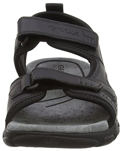 Geox Uomo Sandal Strada A Herren Sandalen Schwarz (Blackc9999)