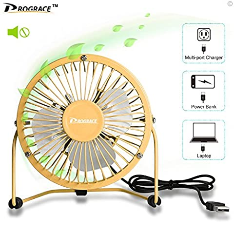 10,2cm Mini ventilateur USB, bureau Table Bureau personnels ventilateurs alimentés