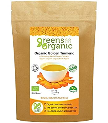 (2 Pack) Greens Organic Golden Turmeric| 100g Pouch | 2 PACK BUNDLE from Greens Organic
