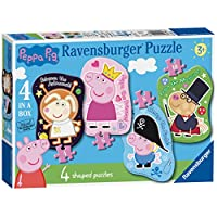 Ravensburger Peppa Pig 4 Shaped Jigsaw Puzzles (4,6,8,10pc)