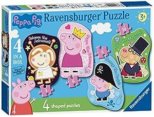 Ravensburger UK 6981 Peppa Pig - Puzzles de 4 Formas (4,6,8,10 Piezas)