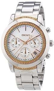 DKNY Damen-Armbanduhr Chronograph Quarz Edelstahl NY8589