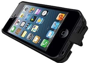 iKit IK-IP5NUCHBK-AGY NuCharge Akkuhülle für iPhone 5/5S schwarz mit Aluminiumcover in grau