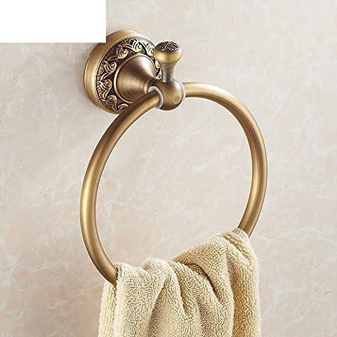 Anillo de toalla de cobre lleno de antigüedades/Al estilo europeo de metal retro colgante de baño