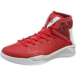 Under Armour Ua Rocket 2, Zapatillas de Baloncesto para Hombre, Rojo (Red 600), 45.5 EU