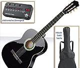 Konzertgitarrenset für Einsteiger mit 4/4 Konzertgitarre inkl. Tasche, Lehrbuch (+CD), Stimmgerät und DC-Plec-Box
