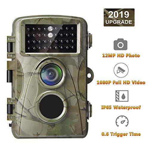 """AlfaView Wildkamera Fotofalle 12MP 1080P HD Jagdkamera mit Bewegungsmelder Nachtsichtkamera, Infrarot 20m Nachtsicht, 2.4"""" LCD Display IP65 Wasserdichtm für Wildlife Jagd und Haussicherheit"""