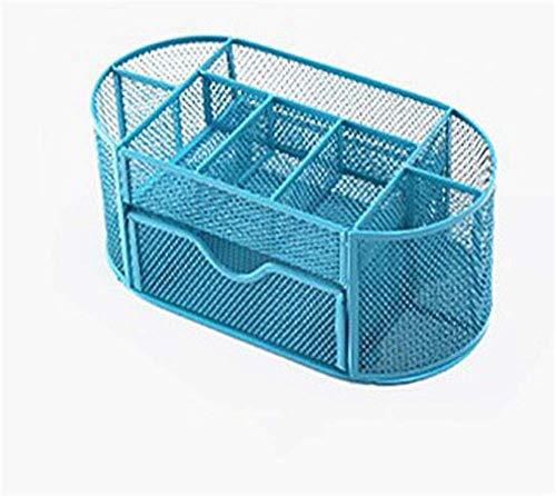 Blau Mesh Schreibtisch Veranstalter Office Supply Caddy Schublade mit Stifte Inhaber Sammlung hängende Datei Inhaber -