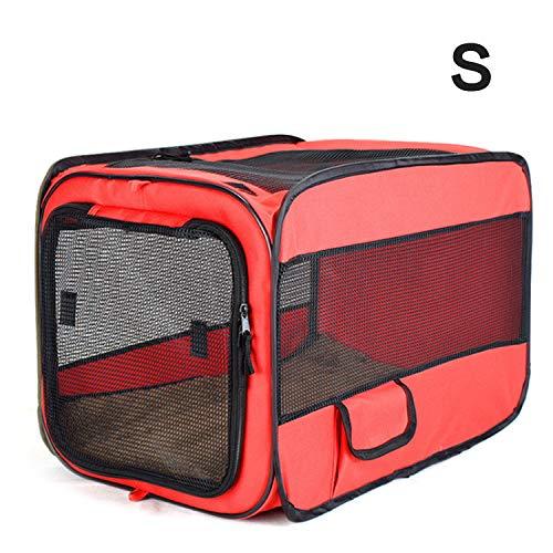 bwKRJB Transporttasche für Haustiere, weiche Seitenteile,Dual-Tote-Bag-Design Tragbarer Faltbarer Hundetasche,Tierträger Geeignet für kleine und mittlere Hunde und Katzen,Rot/blau(S)