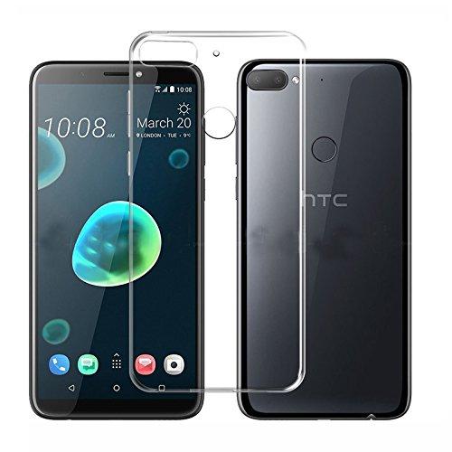 Für HTC Desire 12Plus Schutzhülle-Durchsichtig stoßfest Silikon TPU Schutzhülle Skin Cover Fallsicherung Weiche TPU Full Deckkraft Clear Soft Slim und Leichte Schutzhülle für HTC Desire 12+ (Projektor Htc)