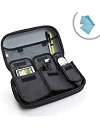 USA Gear Travel Case Rigid for DIABETICOS | Perfect for Insulin Syringes, Vials and Control Appliances Pens Perfect For Accu-Chek Nano, Bayer Contour, Truetest and many more. | Includes Cleaning Cloth.