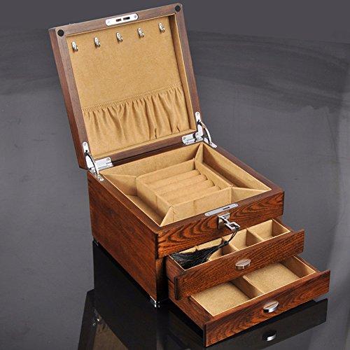 QPSSP Antike Schmuckkästchen Schmuckkästchen Alte Ulme Angepasste Hardware - Reine Holz - Schatulle - Box,B - 3