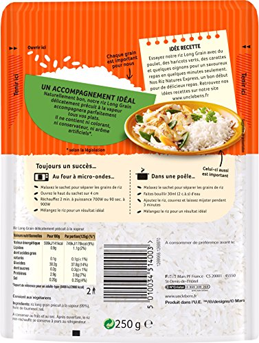 UNCLE BEN'S Express 2 min micro-ondable Riz Long Grain 250 g